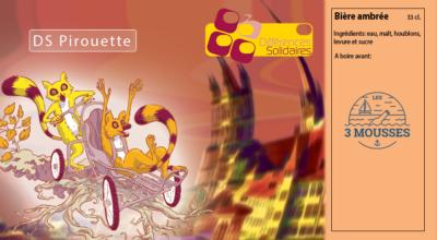 Etiquette DS Pirouette Ambrée
